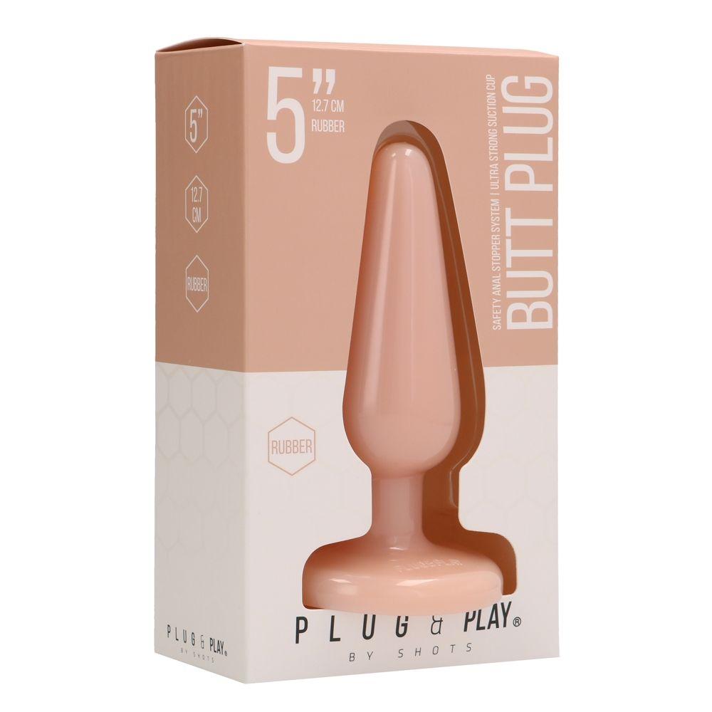 Plug Anal Rubber Butt Plug Lisse 12,7 cm
