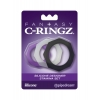 Kit de 3 Cockrings Silicone Designer Stamina Set Fantasy C-Ringz