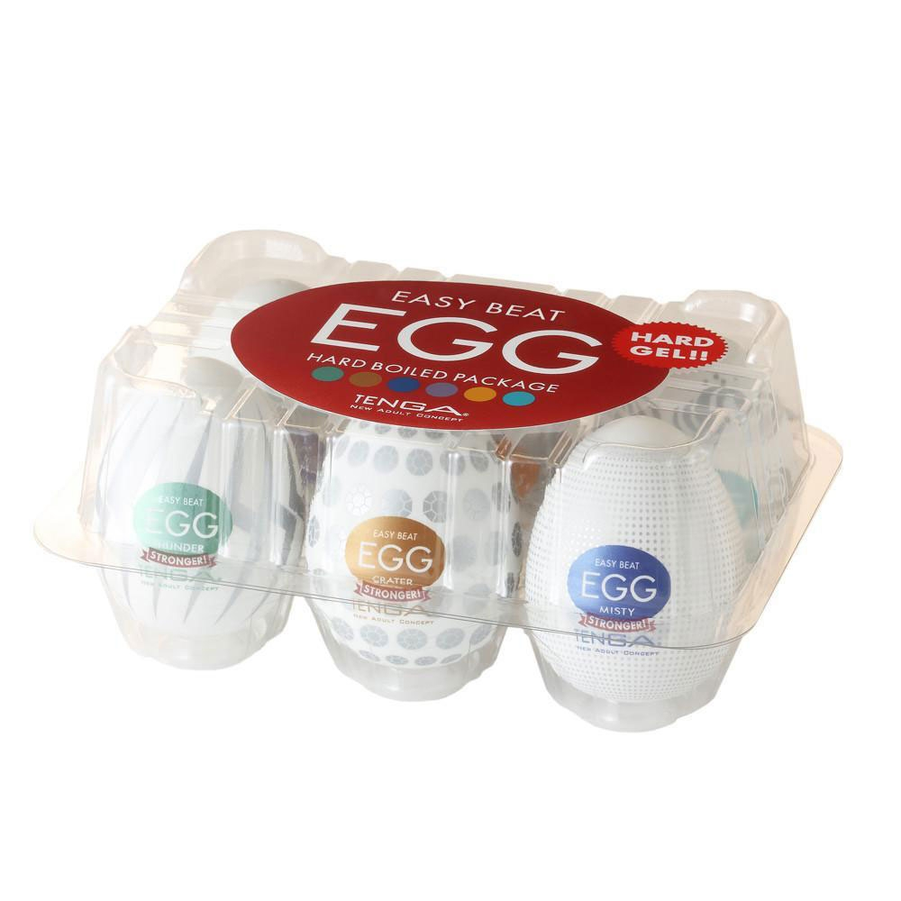 Masturbateurs Egg Hard Boiled Pack de 6