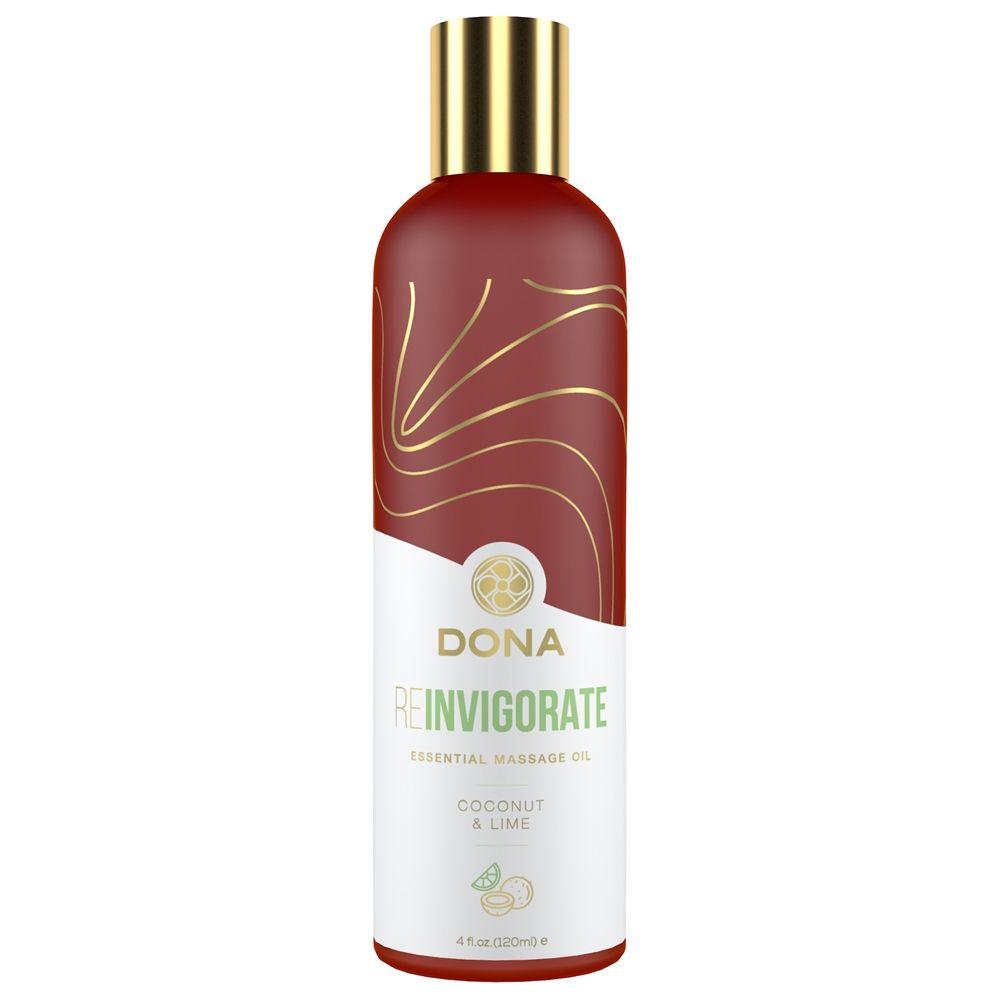 Huile de Massage Essentielle REinvigorate Noix de Coco & Citron Vert 120 ml