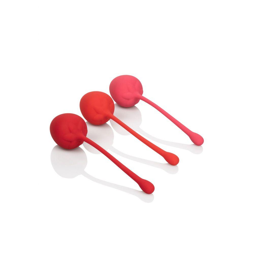 Kit Boules de Geisha Kegel Training Set Strawberry