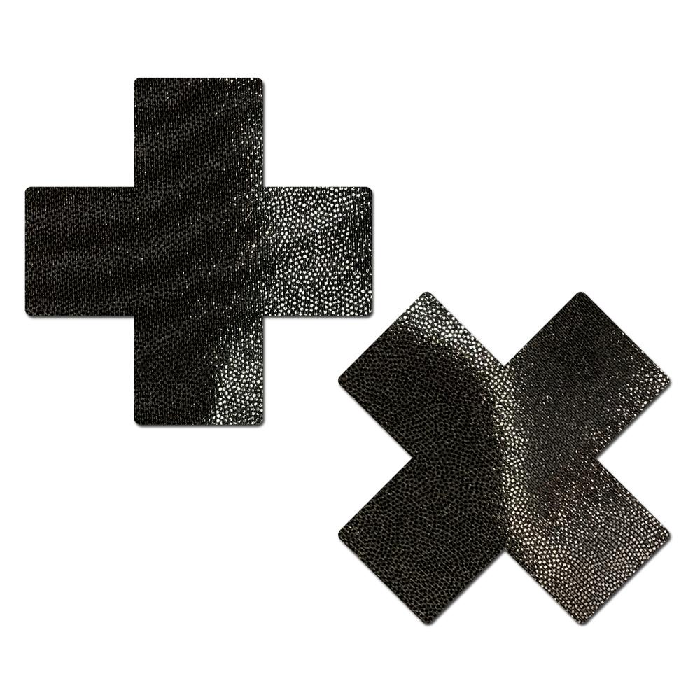 Caches-Seins Everyday Croix Noir