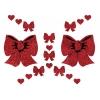 Kit Body Art Glitter Noeud et Coeur Rouges