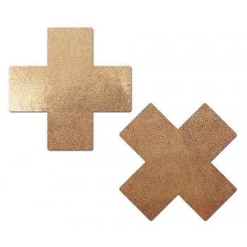 Caches-Tétons Croix Rose Gold