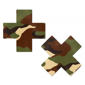 Caches-Tétons Croix Camouflage