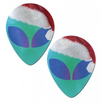 Caches-Tétons Alien Père Noël