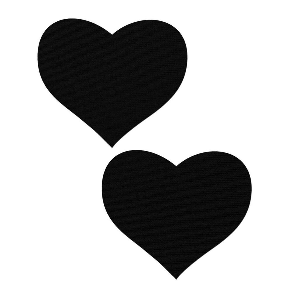 Caches-Seins Coeurs Noirs