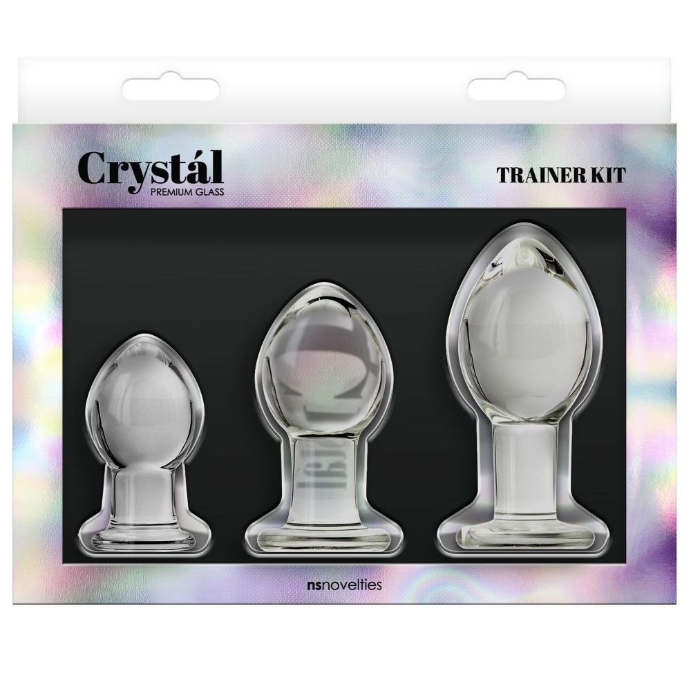 Kit de 3 Plugs Anal en Verre Crystal Trainer Kit