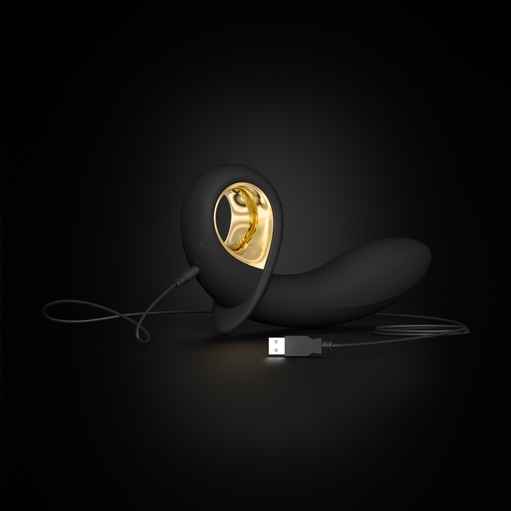 Plug Anal Vibrant Gonflable Deep Expand Black & Gold Edition