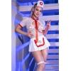 Costume Infirmière Spécialisée 6 Pièces Blanc & Rouge