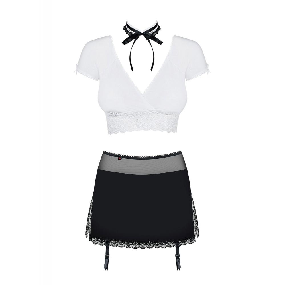 Costume Secrétaire Coquine 3 Pièces Noir & Blanc