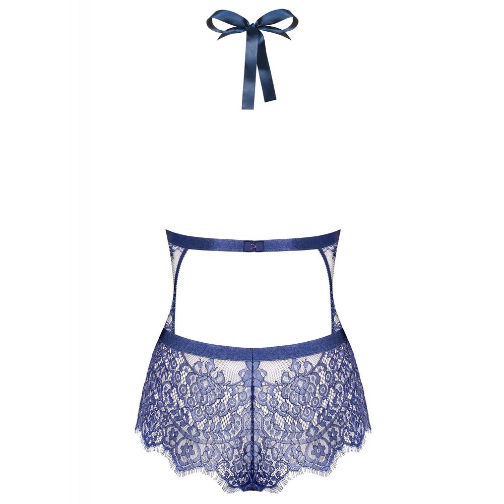 Body Babydoll Flowlace Bleu