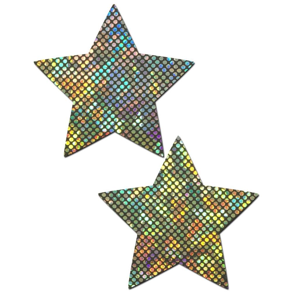 Caches-Tétons Étoile Disco Arc-en-Ciel