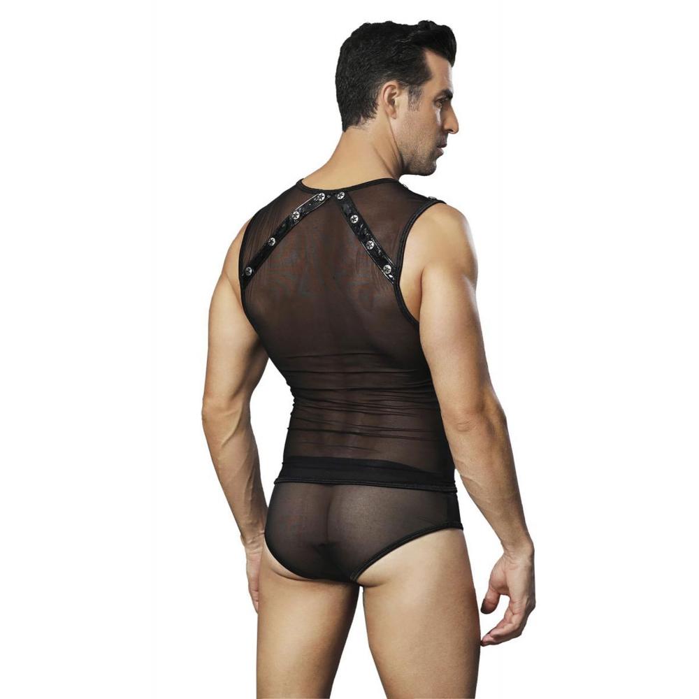 Body Maille Transparente Noir
