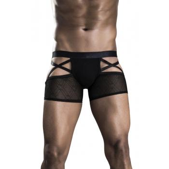 Boxer Jockstrap Lanières Noir