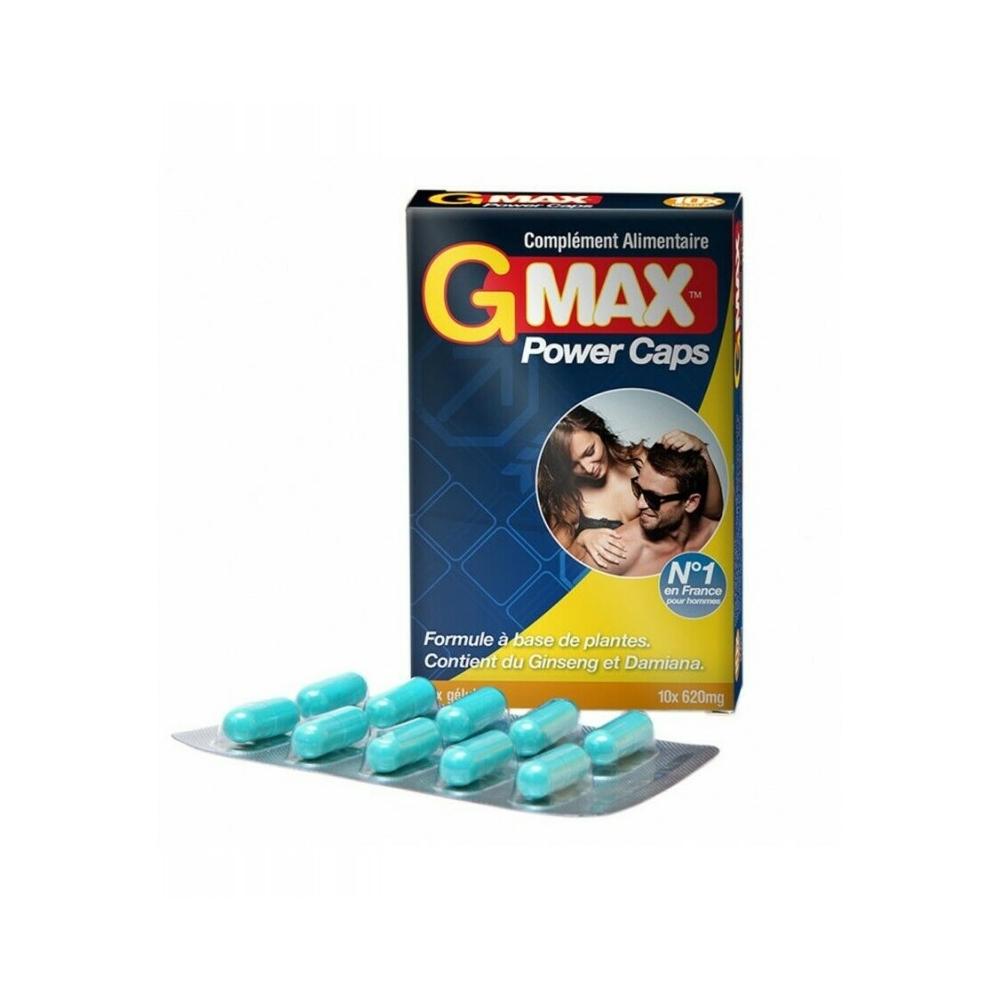Aphrodisiaque pour Homme GMAX 10 Gélules