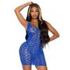 Robe 86961 Résille Bleue