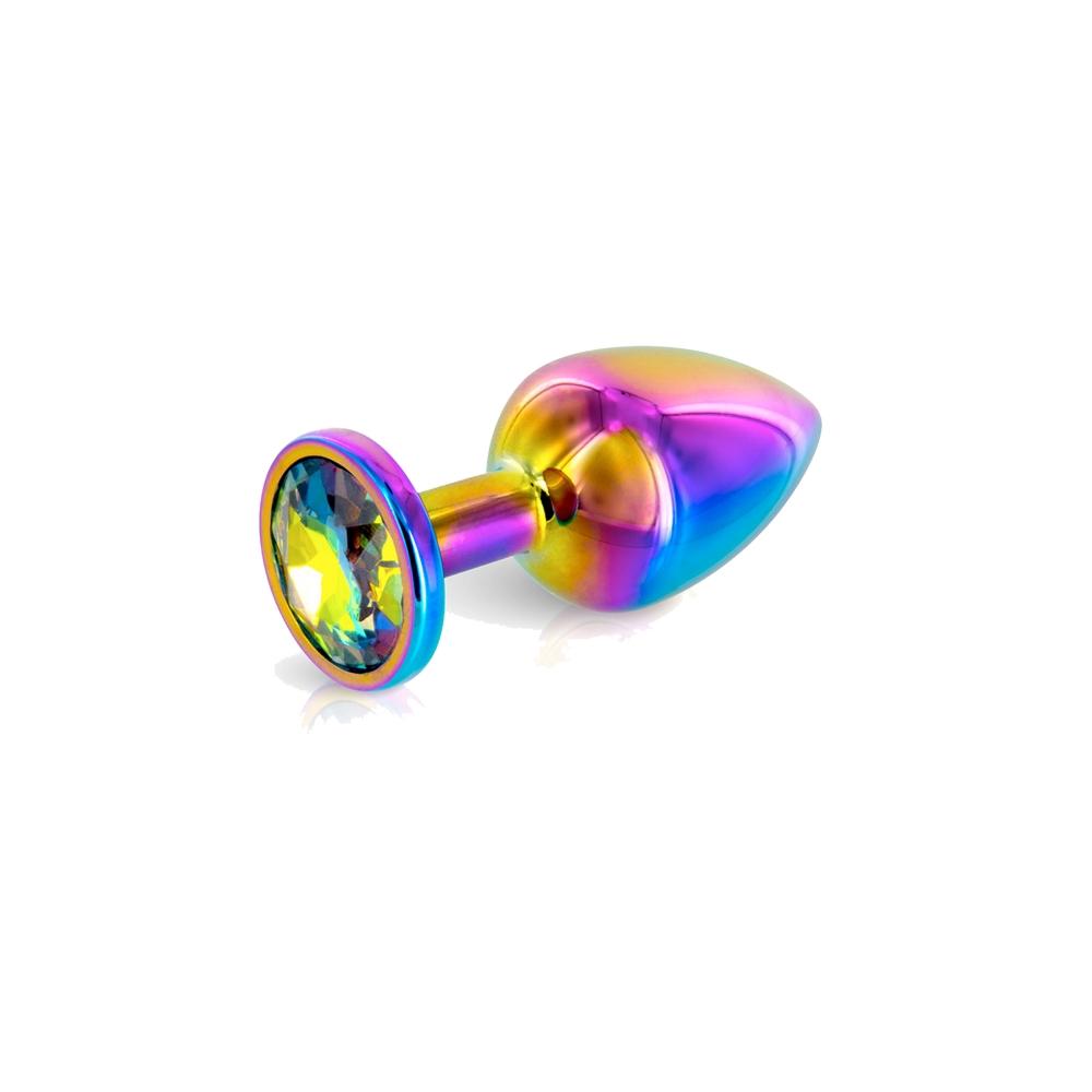 Plug Anal Aluminium Bijou Rainbow XS