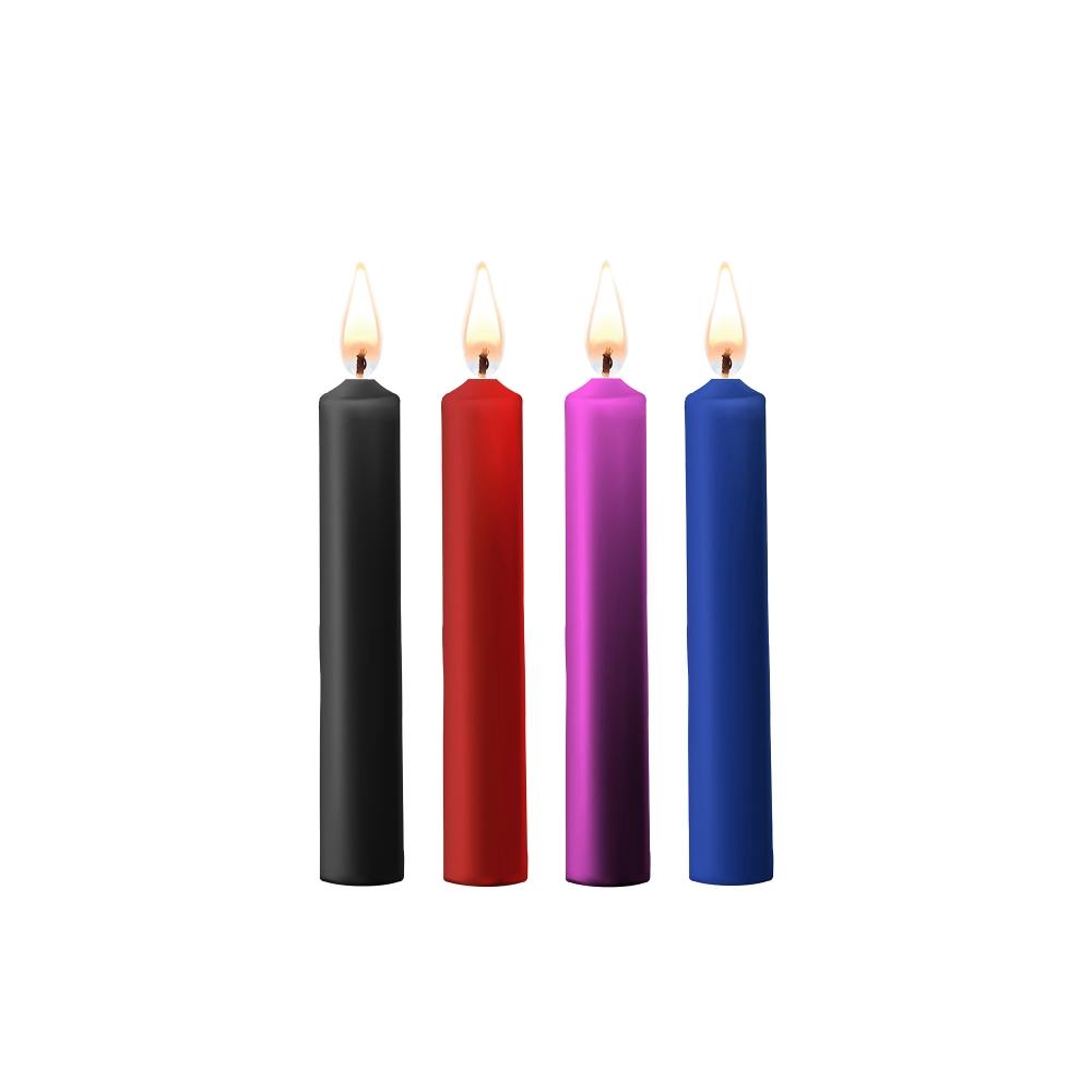 Kit 4 Bougies Basse Température Colorées Teasing Wax Candles