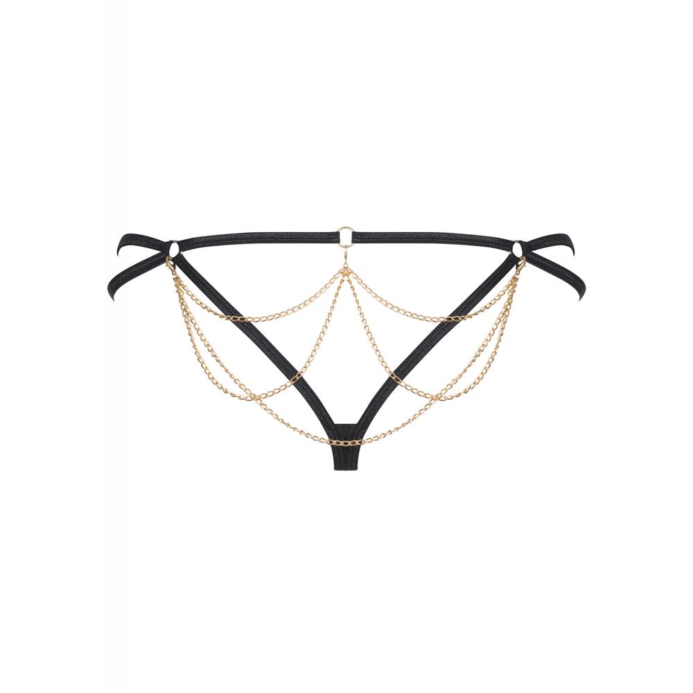 String Pantheria Léopard Noir