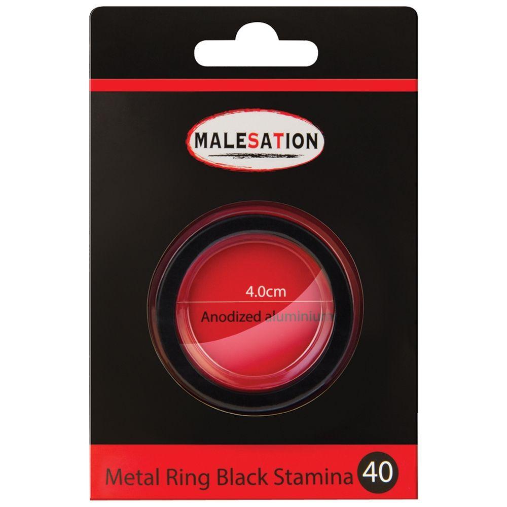Cockring Metal Ring Stamina Noir 4 cm