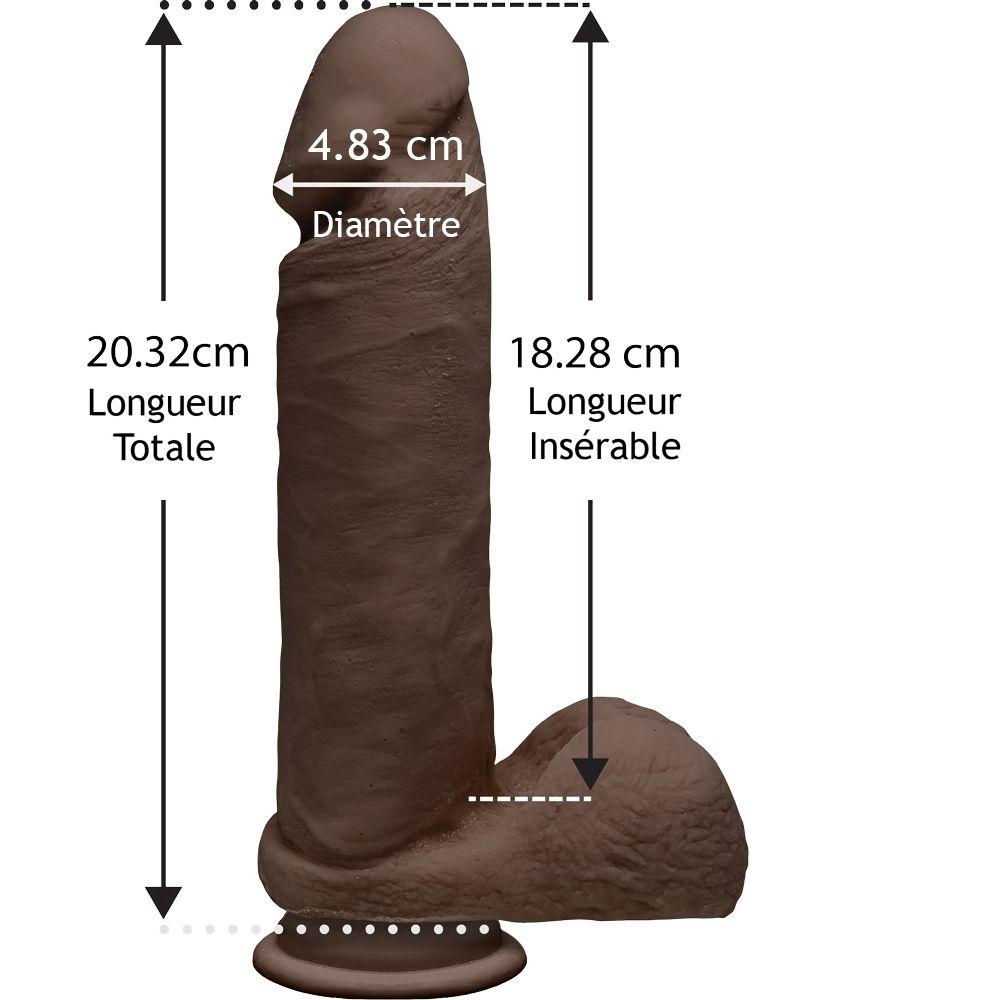 Dildo avec Testicules Perfect D 20,3 cm Dual Density The D